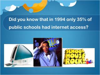 Did you know that in 1994 only 35% of public schools had internet access?