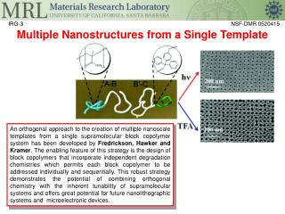 Multiple Nanostructures from a Single Template