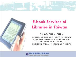E-book  Services of Libraries in  Taiwan