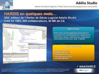 Adélia Studio Atelier de Génie logiciel / Plate-forme de développement universelle