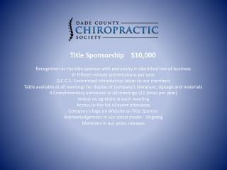 Title Sponsorship     $10,000