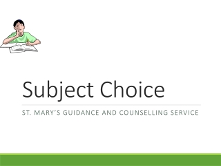 Subject Choice Presentation