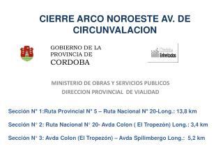 CIERRE ARCO NOROESTE AV. DE CIRCUNVALACION