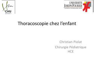 Thoracoscopie  chez l'enfant