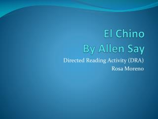 El Chino By Allen Say