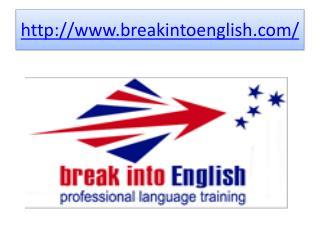 English classes online | Break Into English