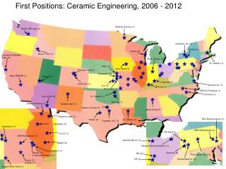 First Positions:  Ceramic Engineering, 2006  -  2012