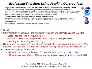 Evaluating Emissions Using Satellite Observations