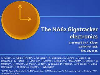 The NA62  Gigatracker  electronics