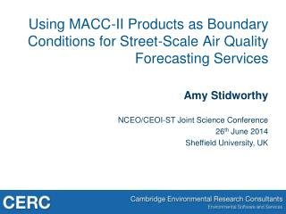 Using MACC-II Products as Boundary Conditions for Street-Scale Air Quality Forecasting Services