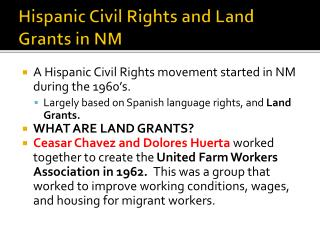 Hispanic Civil Rights and Land Grants in NM