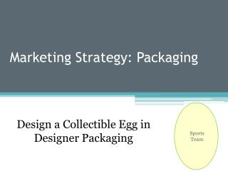 Marketing Strategy: Packaging