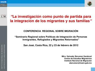 """"""" La investigación  como punto de partida para la integración de los migrantes y sus familias """""""