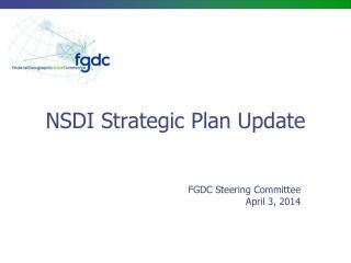 NSDI Strategic Plan Update