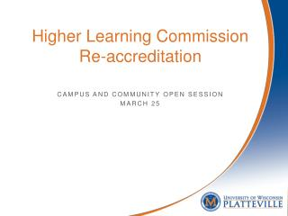 Higher Learning Commission Re-accreditation
