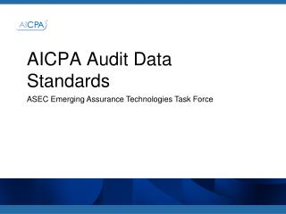 AICPA Audit Data S t andards