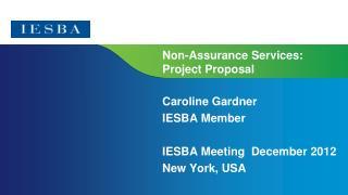 Non-Assurance Services: Project Proposal