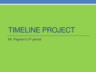 Timeline Project