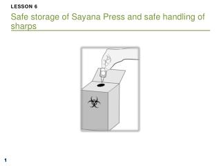 LESSON  6 Safe storage of Sayana Press and safe handling of sharps
