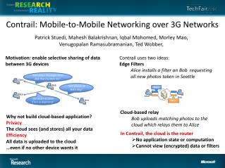 Contrail: Mobile-to-Mobile Networking over 3G Networks