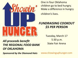 One in four Oklahoma children go to bed hungry.  Make a difference in hungry children�s lives.