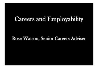Careers and Employability