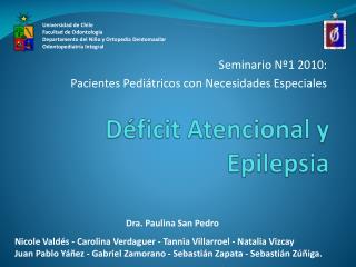 Déficit Atencional y Epilepsia