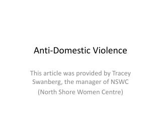 Anti-Domestic Violence