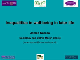 Inequalities in well-being in later life