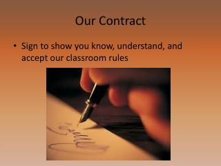 Our Contract