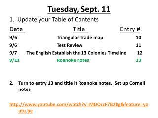 Tuesday, Sept. 11