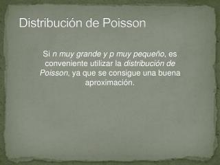 Distribuci�n de Poisson