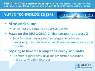 Miroslav Konecny senior PM and consultant (8 projects in FP7)