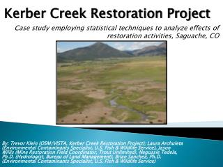 Kerber Creek Restoration Project