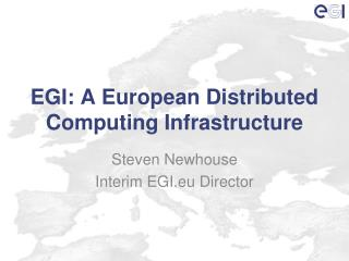 EGI: A European Distributed Computing Infrastructure