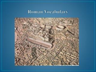 Roman Vocabulary