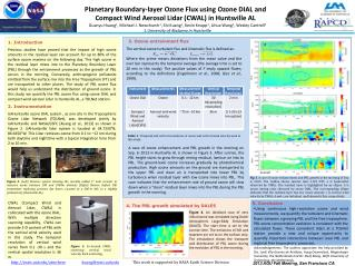 Planetary Boundary-layer Ozone Flux using Ozone  DIAL and