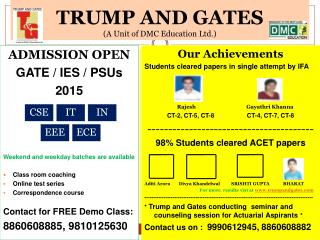 TRUMP AND GATES   (A Unit of DMC Education Ltd.)