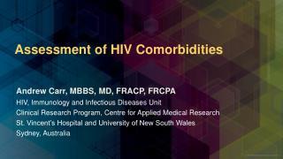 Assessment of HIV Comorbidities