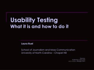 Usability Testing What it is and how to do it
