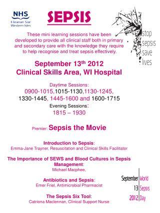 SEPSIS Day Daft Programme
