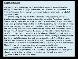 Daggers as symbols