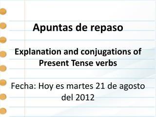 Present tense Notes