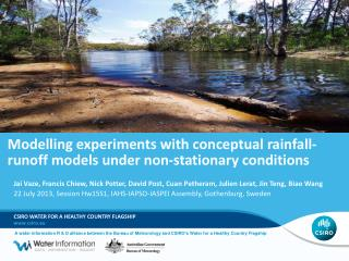 Modelling experiments with conceptual rainfall-runoff models under non-stationary conditions