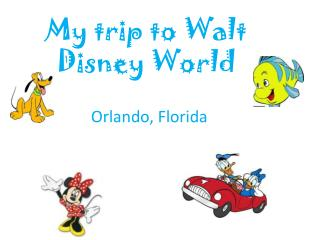 My trip to Walt Disney  W orld