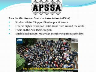 Asia  Pacific Student Services Association  (APSSA )