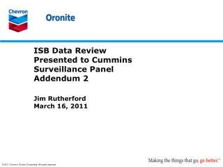 ISB Data Review Presented to Cummins Surveillance Panel Addendum  2