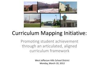 Curriculum Mapping Initiative: