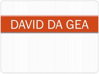 DAVID DA GEA