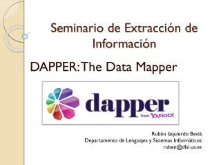 Seminario de Extracción de Información